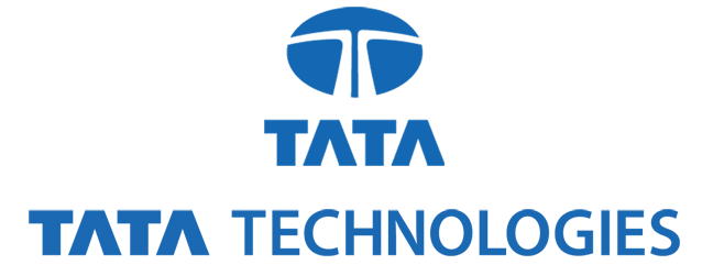 Tata Technologeis Stacked Blue Logo Blued